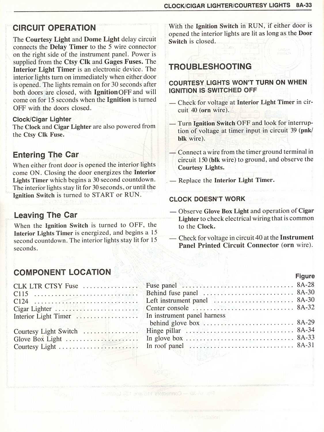 Vette 82 Body And Chassis Electrical Troubleshooting Http Www Eletric Circuit39s Components Symbols 8a 06 07 Tools